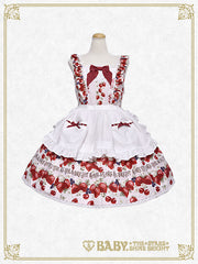 RESERVE - Strawberry's Heart Drops jumper skirt II