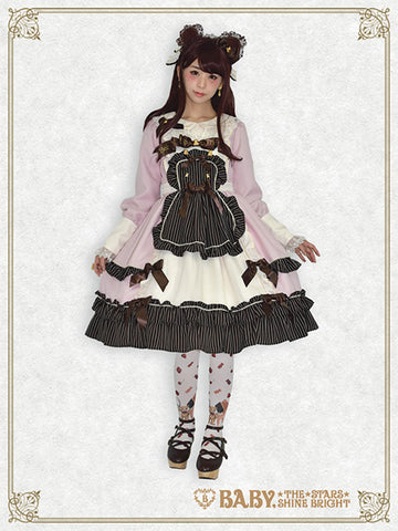 RESERVE - Fondant Chocolat apron one piece dress