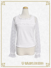 Flora Lace yoke pullover