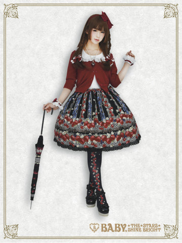 RESERVE - Strawberry's Heart Drops skirt