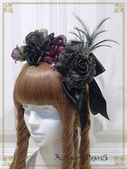 Wicked bouquet head bow