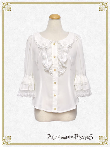 RESERVE - Anastasia Butterfly Collar Blouse