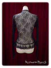 Lace conversion pullover
