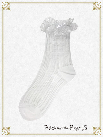 RESERVE - A/P Striped See-through Socks