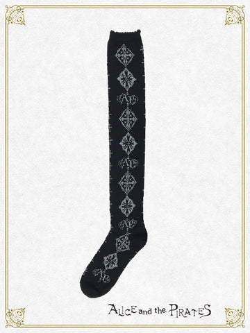 A/P Cross Ornament over knee socks