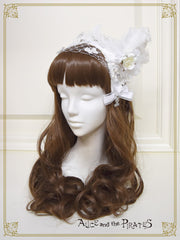 RESERVE - Angel and the Secret Flower Garden head dress style head bow (build-to-order)