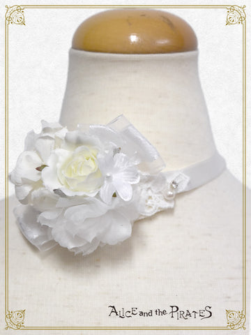 RESERVE - Angel and the Secret Flower Garden choker (build-to-order)