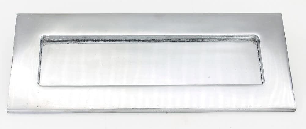 ZW Hardware ZW-MB001 10 Inch × 3 Inch Bright Chrome Plating Door Mail Slot