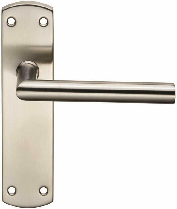 Carlisle Brass Eurospec Steelworx Residential Mitred Lever. CSLP1162B/BSS