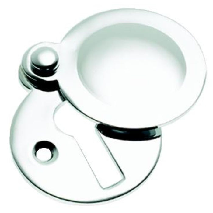 Polished Chrome Tudor Covered Escutcheon 1.1/4