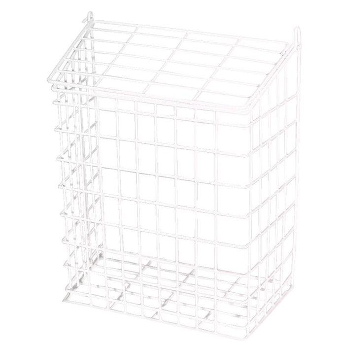 "White Plastic Coated Letter Cage 12"" x 9"" x 5"" White 62S"