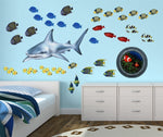 Load image into Gallery viewer, Shark Wall Decal (40 in. x 20 in.)