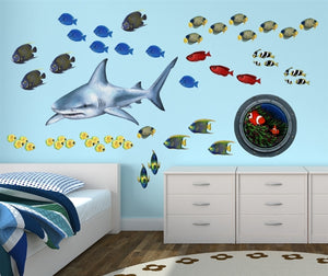 Shark Wall Decal (40 in. x 20 in.)