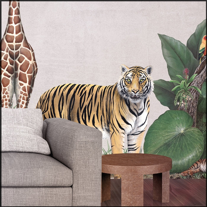 Tiger Wall Decal (38 in. X 32 in.)