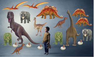 Economy Size Dinosaur Wall Decals Collection (19 Small Size Decals)
