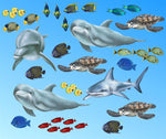 Load image into Gallery viewer, Sea Creatures and Tropical Fish Wall Decals Collection (Economy Size 48 in. x 48 in.)