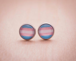 trans pride flag jewelry