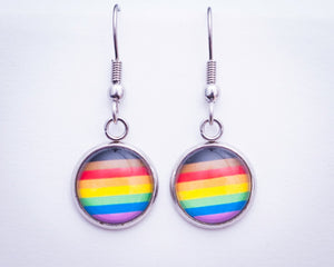 inclusive rainbow flag hanging earrings