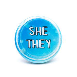 lgbtq she they pronoun buttons