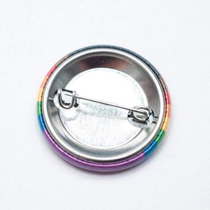 Inclusive rainbow flag pride button / magnet