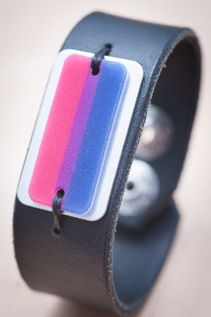 bisexual flag bracelet