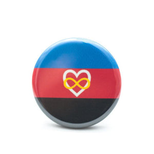 polyamory pride flag button