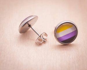 non-binary queer earrings