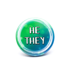 lgbtq he they pronoun buttons