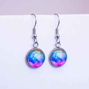 tie dye dangle earrings