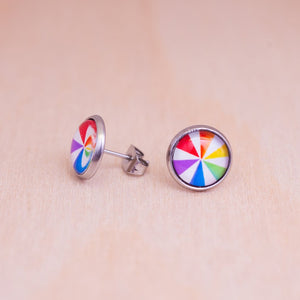subtle lgbtq stud earrings