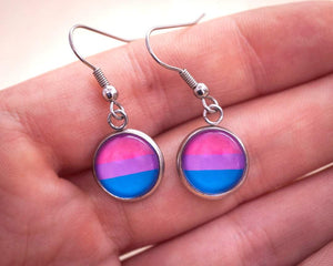 bi pride dangle earrings