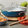 12-Inch Nonstick Deep Frying Pan with Helper Handle