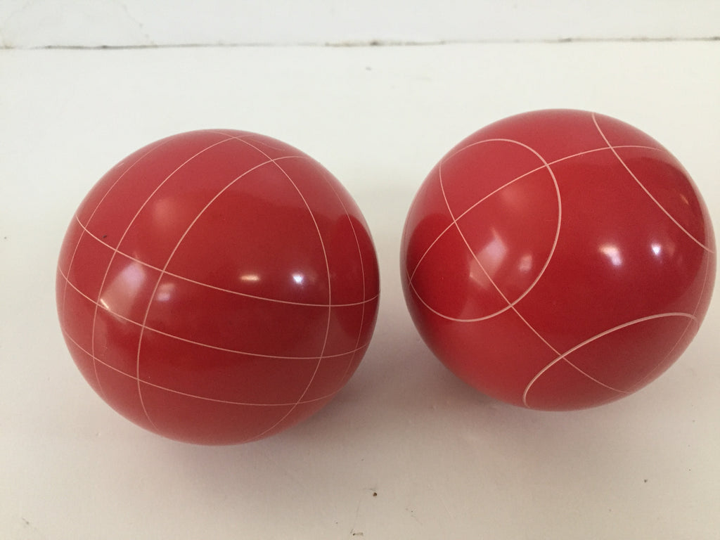 Pack of 2 - Replacement Bocce Balls - 107mm - Red with 2 different scoring patterns