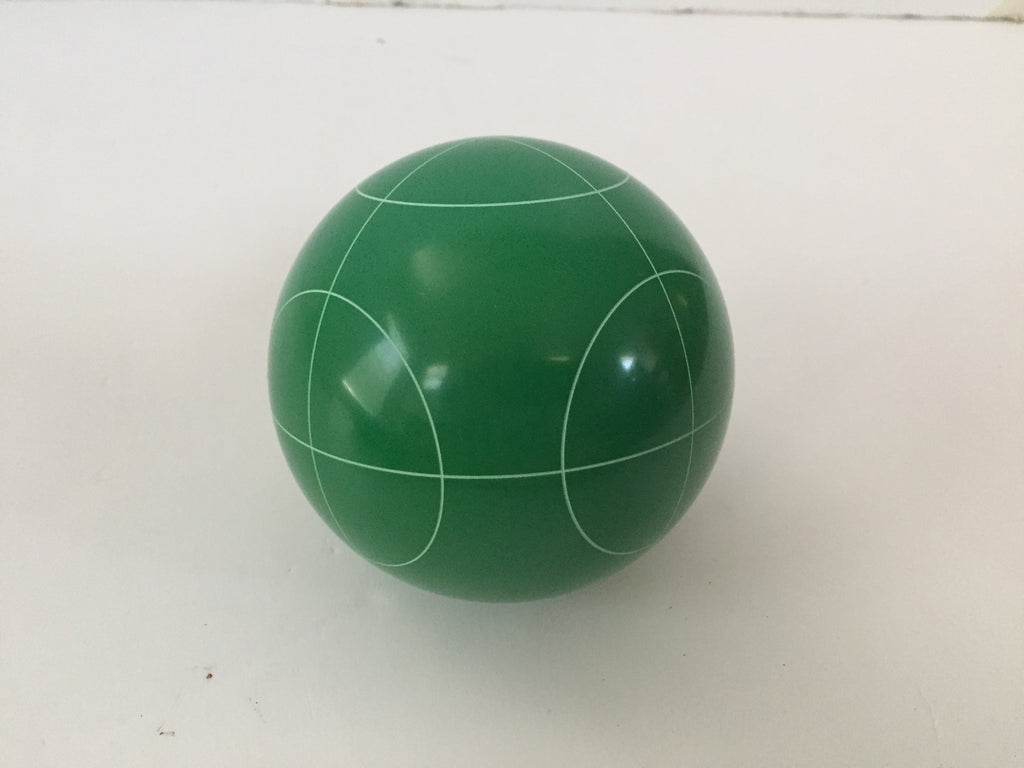 Replacement Bocce Ball - 107mm - Green with circle pattern