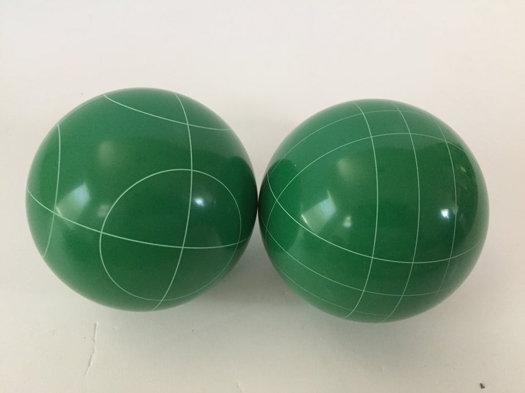 Pack of 2 - Replacement Bocce Balls - 107mm - Green with 2 different scoring patterns