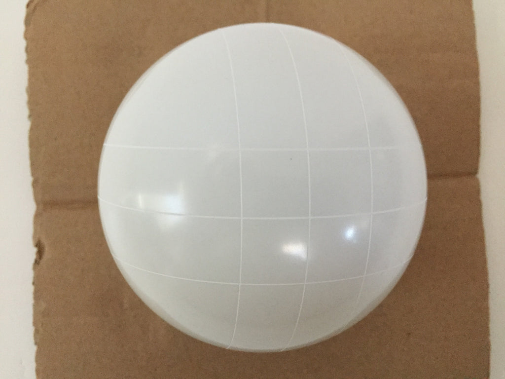 Replacement Bocce Ball - 107mm - White with straight line pattern