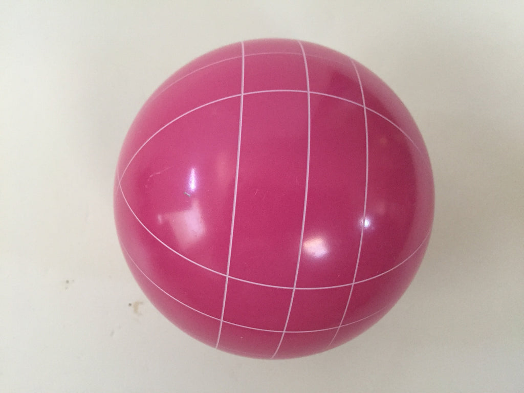 Replacement Bocce Ball - 107mm - Pink with straight line pattern