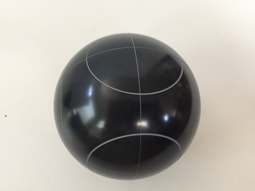 Replacement Bocce Ball - 107mm - Black with circle pattern