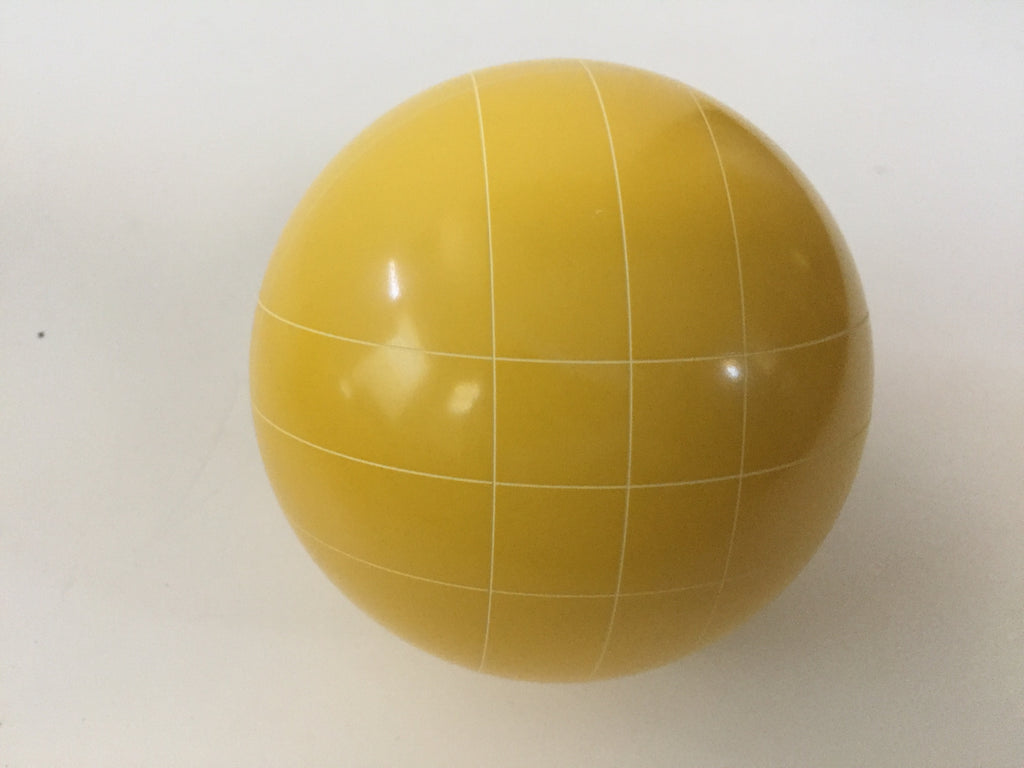 Replacement Bocce Ball - 107mm - Yellow with straight line pattern