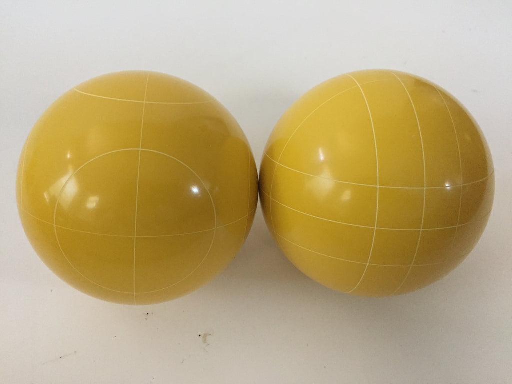 Pack of 2 - Replacement Bocce Balls - 107mm - Yellow with 2 different scoring patterns