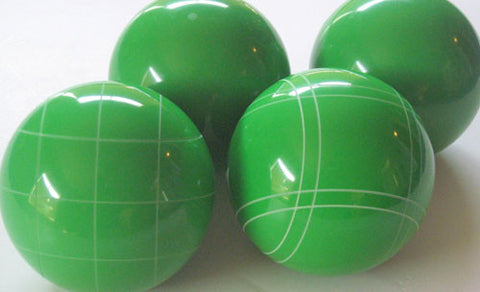 4 Ball EPCO Set with light green balls and mix of striping 107mm