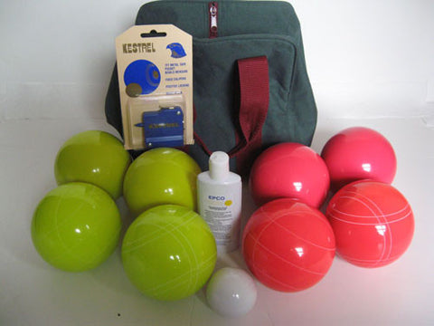 Basic EPCO Bocce package - 110mm Yellow and light Red balls