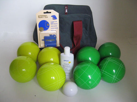 Basic EPCO Bocce package - 107mm yellow and Green balls
