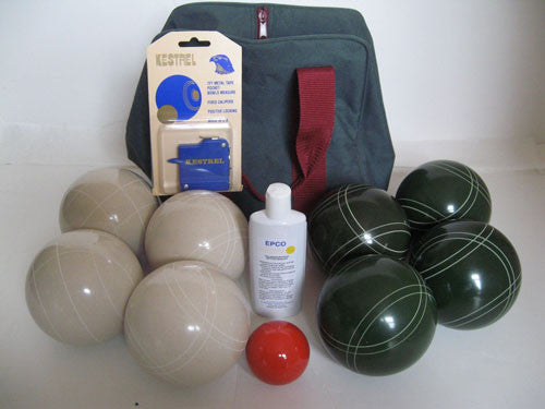 Basic EPCO Bocce package - 107mm White and Green balls