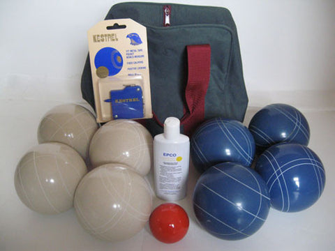 Basic EPCO Bocce package - 107mm White and Blue balls