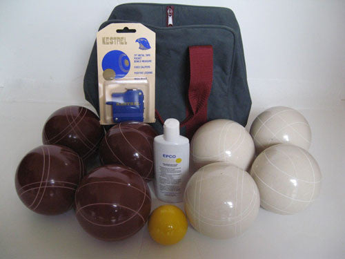 Basic EPCO Bocce package - 107mm Red and White balls
