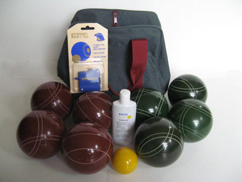 Basic EPCO Bocce package - 107mm Red and Green balls