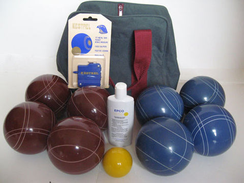 Basic EPCO Bocce package - 107mm Red and Blue balls