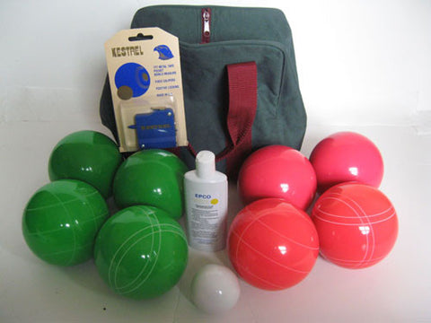 Basic EPCO Bocce package - 110mm Green and Light Red balls