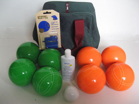 Basic EPCO Bocce package - 110mm Green and Orange balls